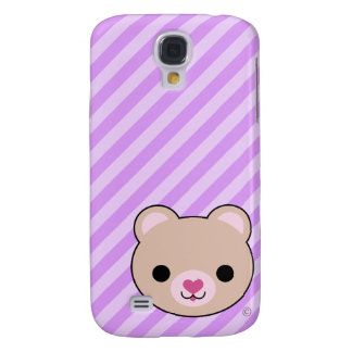 3G Uber Cute Kawaii Bear  Galaxy S4 Cover