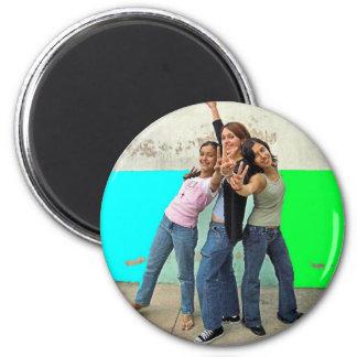 3girls edit 2 inch round magnet
