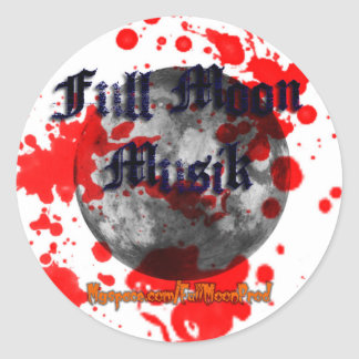 3in Full Moon Musik Blood Sticker
