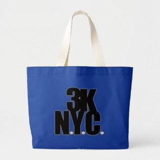 3K N.Y.C. With Baseballs Tote Bags