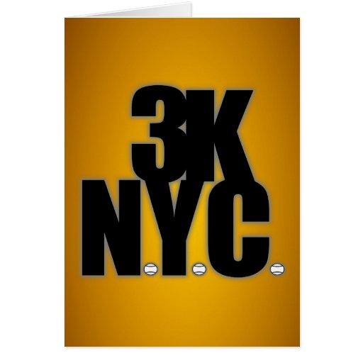 3K N.Y.C. With Baseballs Card