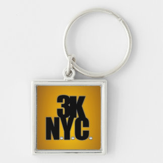 3K N.Y.C. With Baseballs Keychain