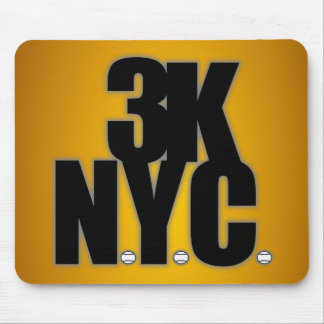 3K N.Y.C. With Baseballs Mouse Pad
