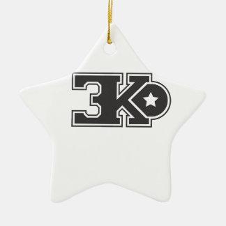 3KO blanco básico T Adorno Navideño De Cerámica En Forma De Estrella
