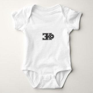 3KO blanco básico T Body Para Bebé