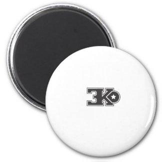 3KO blanco básico T Imán Redondo 5 Cm