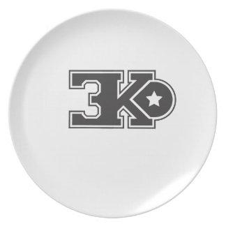 3KO blanco básico T Platos De Comidas