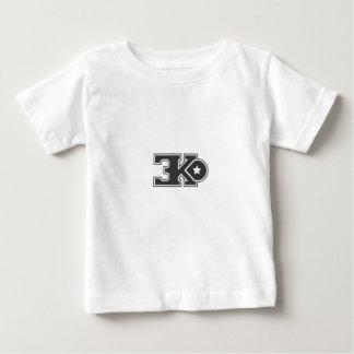 3KO blanco básico T Playera De Bebé