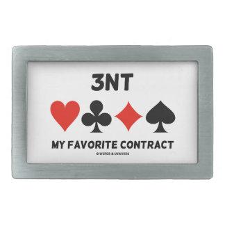 3NT (Three No Trump) My Favorite Contract Belt Buckle