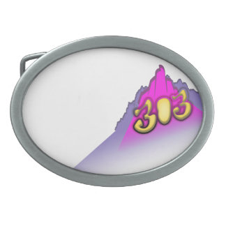 3oh!3 oval belt buckle