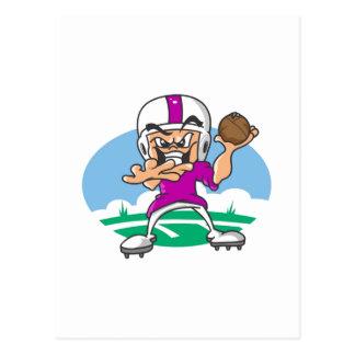 3Purple Football Player Postcard