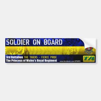 3PWRR Soldier On Board Bumper Sticker
