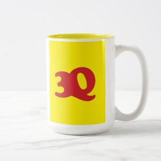 """""""3Q"""" Two-Tone COFFEE MUG"""