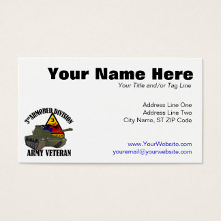 3rd AD Vet - M-48 Patton Tank Business Card