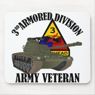 3rd AD Vet - M-48 Patton Tank Mouse Pad