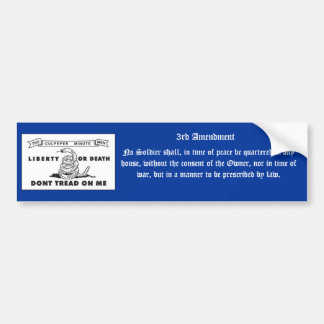 3rd Amendment Car Bumper Sticker