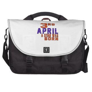 3rd April a star was born Laptop Bag