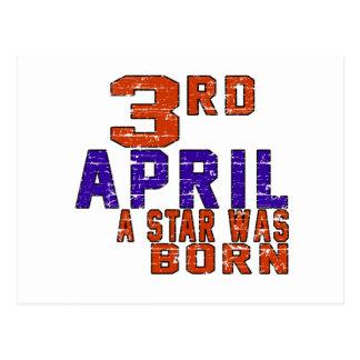 3rd April a star was born Postcard