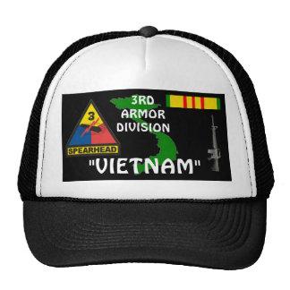 3rd  Armor Division Vietnam Veteran Ball Caps Trucker Hat