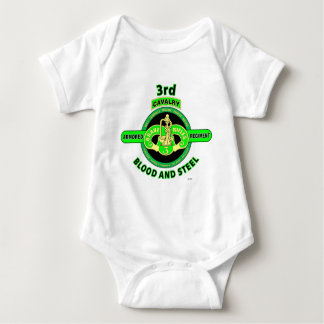"3RD ARMORED CAVALRY REGIMENT""BRAVE RIFLES"" BABY BODYSUIT"