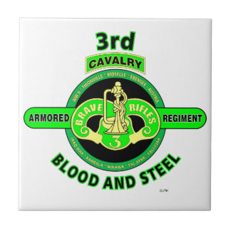 "3RD ARMORED CAVALRY REGIMENT""BRAVE RIFLES"" CERAMIC TILE"