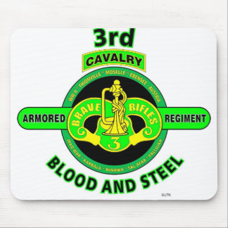 "3RD ARMORED CAVALRY REGIMENT""BRAVE RIFLES"" MOUSE PAD"