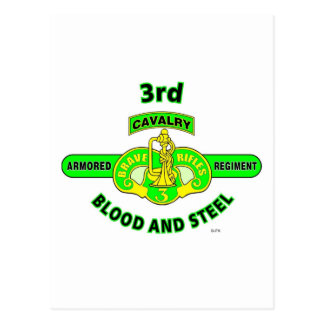 "3RD ARMORED CAVALRY REGIMENT ""BRAVE RIFLES"" POSTCARD"