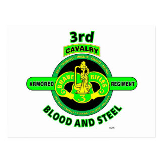 "3RD ARMORED CAVALRY REGIMENT""BRAVE RIFLES"" POSTCARD"
