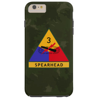 "3rd Armored Division ""Spearhead"" Dark Green Camo Tough iPhone 6 Plus Case"