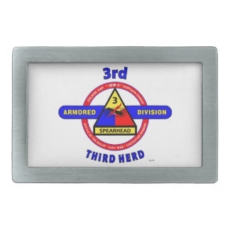 "3RD ARMORED DIVISION ""SPEARHEAD-THIRD HERD"" BELT BUCKLE"