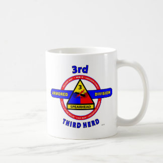 "3RD ARMORED DIVISION ""SPEARHEAD-THIRD HERD"" COFFEE MUG"