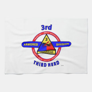 "3RD ARMORED DIVISION ""SPEARHEAD-THIRD HERD"" HAND TOWELS"