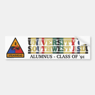 3rd Armored Division U of Southwest Asia Sticker