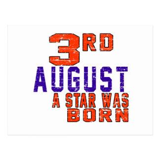 3rd August a star was born Postcard