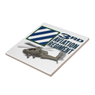 3rd Aviation Regiment Apache Ceramic Tile
