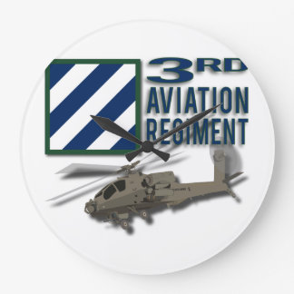3rd Aviation Regiment Apache Large Clock