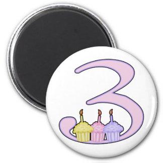 3rd Birthday 2 Inch Round Magnet