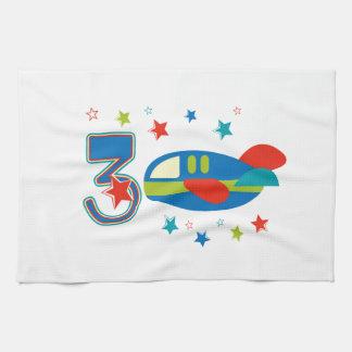 3rd Birthday Airplane Towels