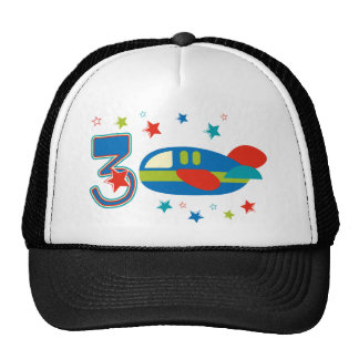 3rd Birthday Airplane Trucker Hat