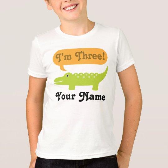 3rd Birthday Alligator Personalized Shirt