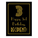 "[ Thumbnail: 3rd Birthday: Art Deco Inspired Look ""3"" + Name Card ]"