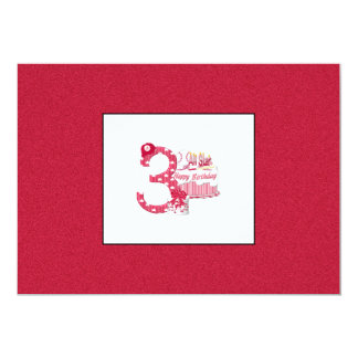 3rd Birthday (Baseball) 5x7 Paper Invitation Card