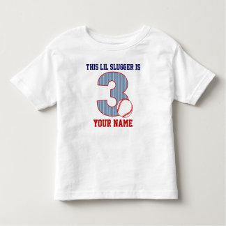 3rd Birthday Baseball Personalized T-shirt