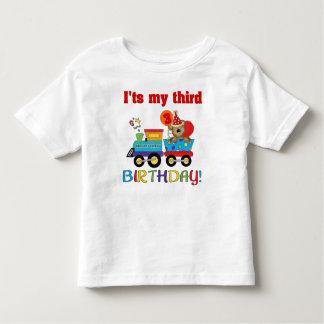 3rd birthday bear train toddler t-shirt