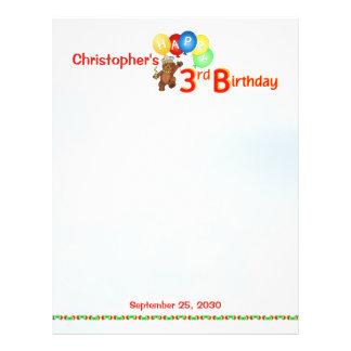 3rd Birthday Bears Scrapbook Paper 1