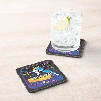 3rd Birthday Beverage Coaster