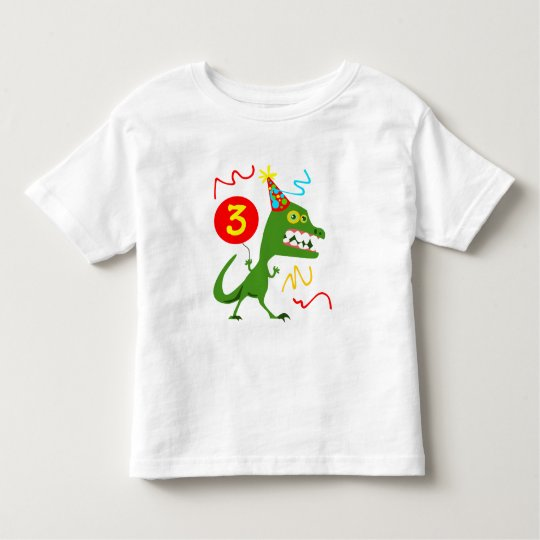 3rd Birthday Boy Girl Cool Monster Toddler T Shirt