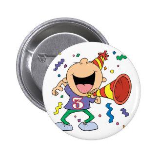 3rd Birthday Boy Buttons
