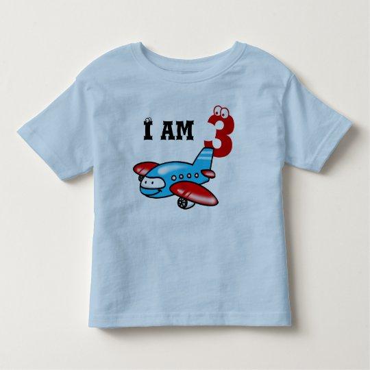 3rd birthday boy gift ( airplane ) toddler t-shirt
