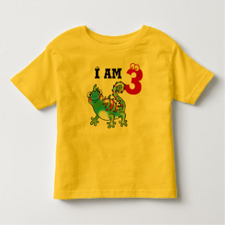 3rd birthday boy gift (funny lizard) toddler t-shirt